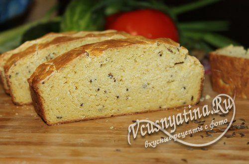Как приготовить кукурузный хлеб с тмином без пшеничной муки