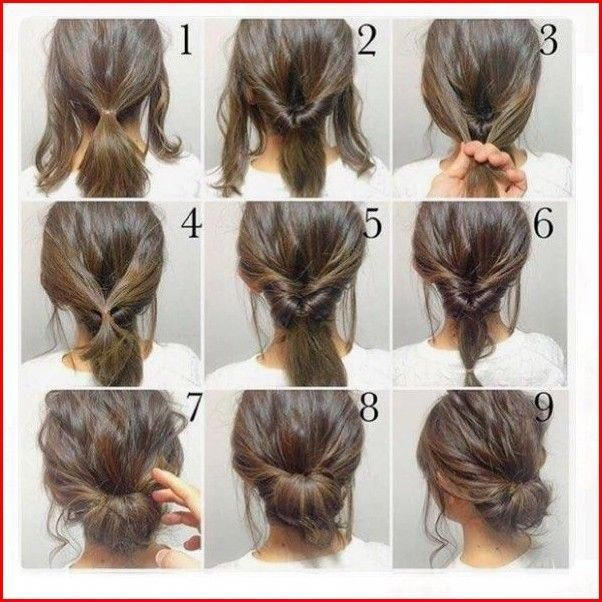 Easy Updos For Medium Hair Best Easy Hairstyles Medium Hair Styles Medium Length Hair Styles Hair Styles