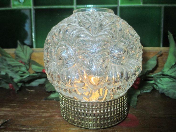 Westmoreland owl fairy lamp light in metal cup #Westmoreland