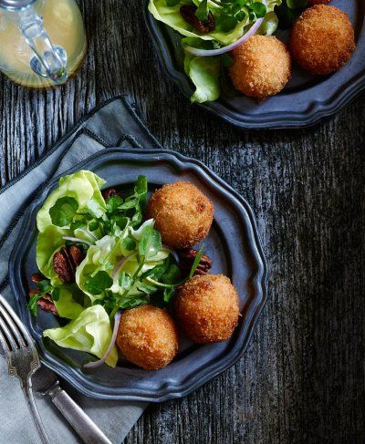 Deep Fried croquettes. Best served warm! Shot by Vince Noguchi