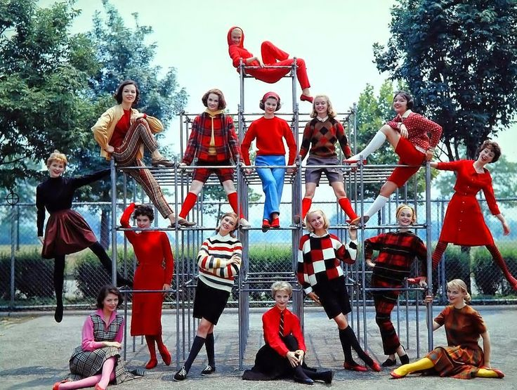 Colorful Campus Fashions, 1957 Photo by Yale Joel