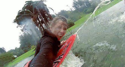 Stupid Antics Kiwis Do On A Wet And Stormy Day!  #skimboarding #adventure #storm #newzealand #mountmaunganui #kiwifun #makeitcount #musttryit