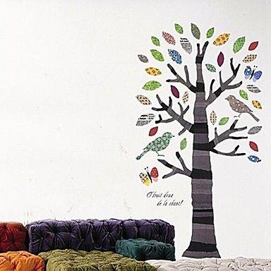 Createforlife ® Cartoon Tree Bird Kids Nursery Room Wall αυτοκόλλητο Art Wall Decals  – EUR € 14.38