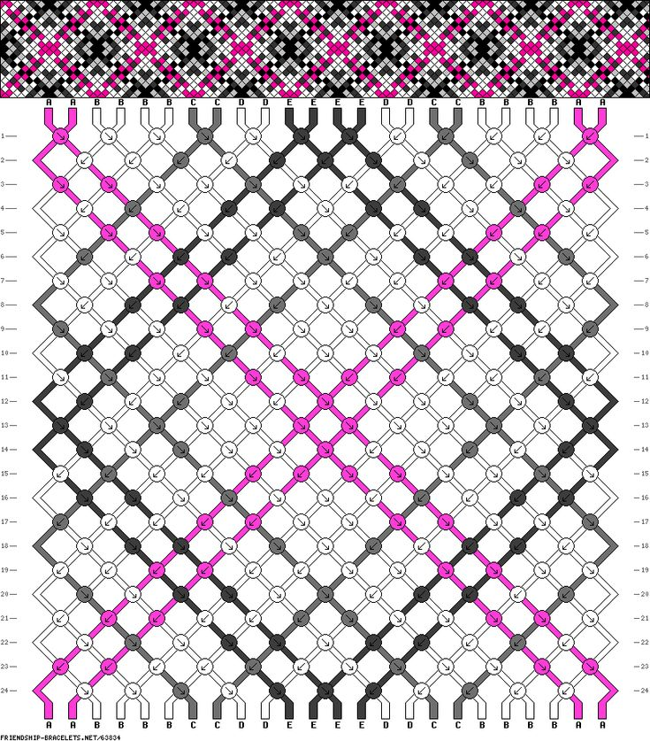 24 strings, 24 rows, 5 colors