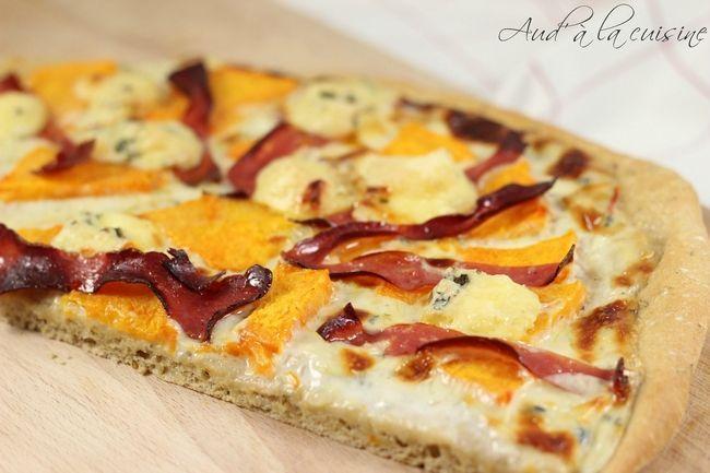 Pizza au potiron et à la fourme d'Ambert