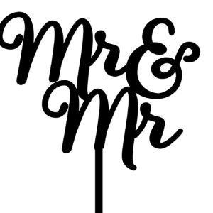 Imagine If Creative Studios - MDF Cake Topper - Mr&Mr Sign #2