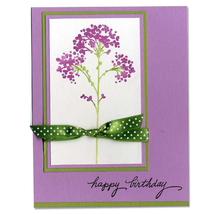 Green and Purple Happy Birthday Card: Crafts Ideas, Cards Ideas, Cards Birthday, Cards 4, Happy Birthday Cards, Cardmaking Ideas, Invitations Ideas, Cards Simple, Cards Crafts