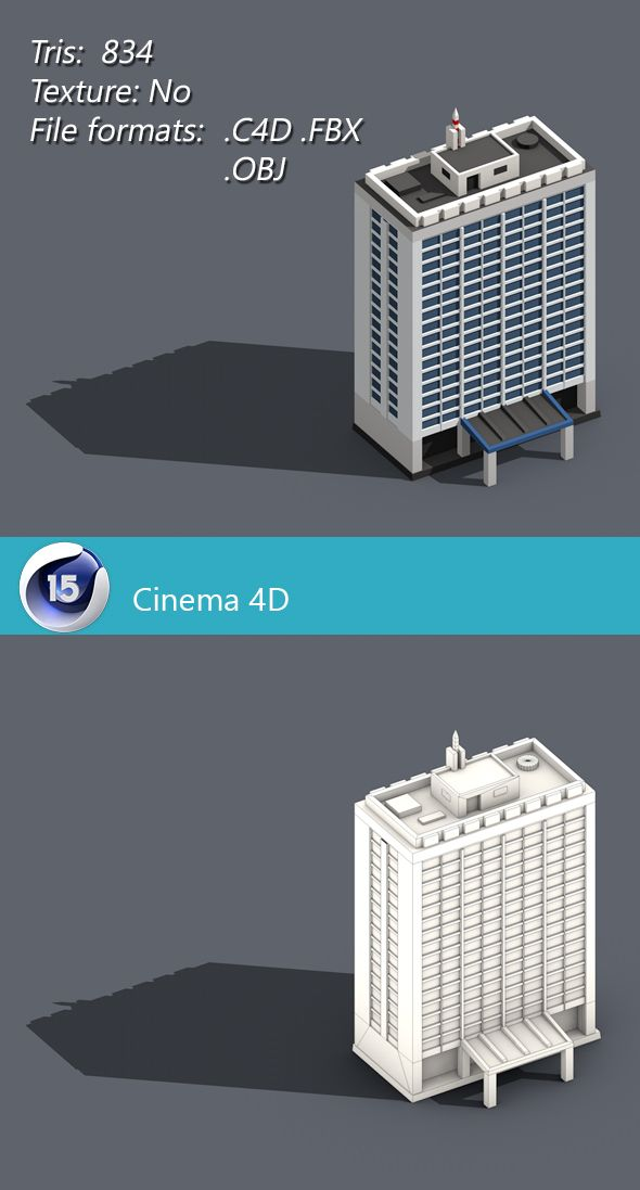 Low poly building 002