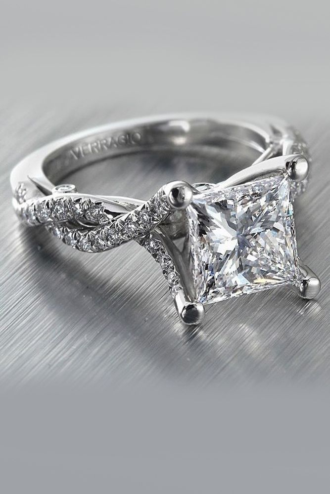 29303d7852dd8 30 Unforgettable Princess Cut Engagement Rings To Get Her Heart ...
