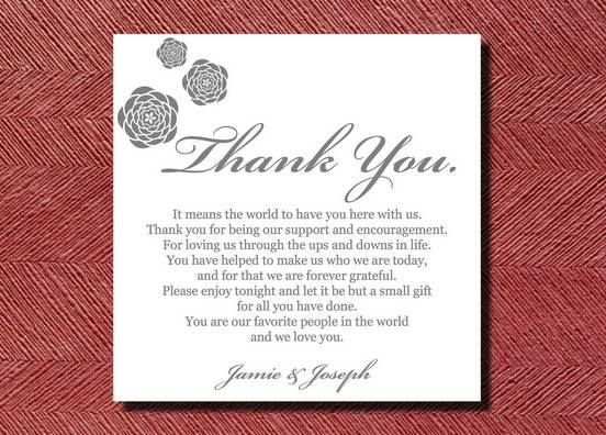 Thank You Letter For Wedding Gift: Wedding Thank You Note Template