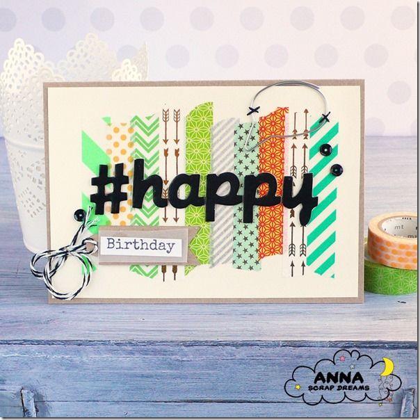 birthday card, washi tape