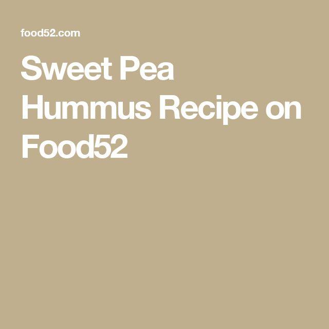 Sweet Pea Hummus Recipe on Food52