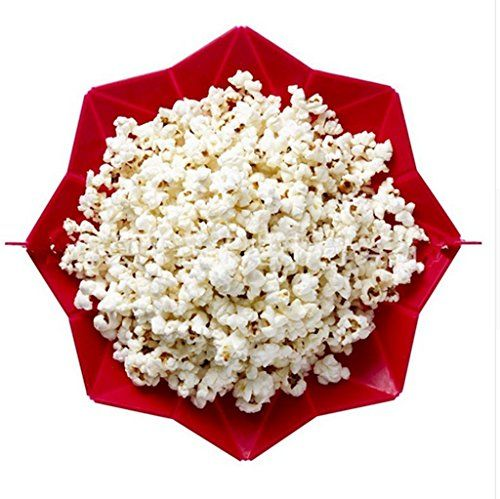 Microwave Silicone popcorn bowl Popcorn Popper Maker Silicone Healthy Snack home baking DIY tools -- Click image to review more details.