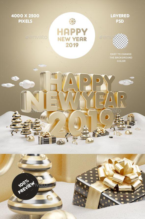 Happy New Year Gold 2019 Happy New Year Design Happy New Year 2019 Newyear
