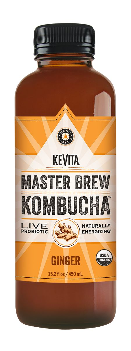 KeVita's Master Brew Kombuchacontains 2 strains of probiotics, 4 billion CFUs, natural caffeine, and 6x the organic acids as other Kombuchas. Learn More!