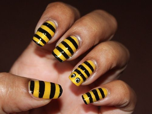 33 best yellow nail art designs images on pinterest yellow nail bee design that i really love everytime i put it on my nails prinsesfo Choice Image