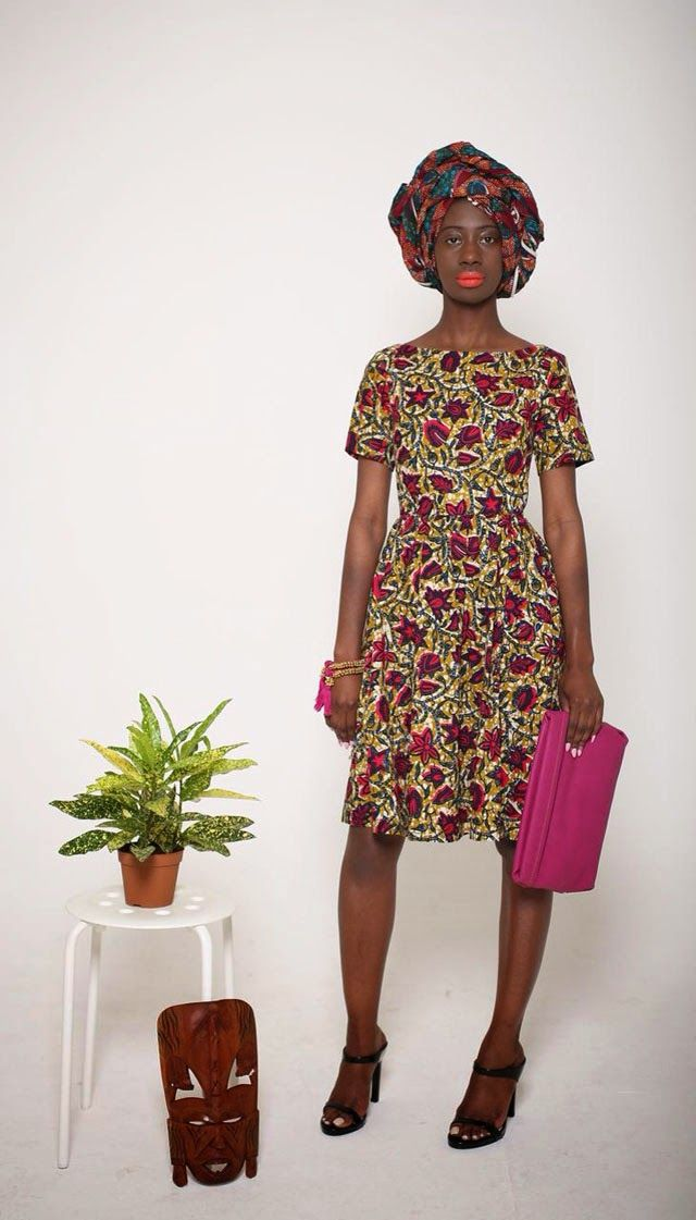 Mazel John African print dress via ciaafrique #africanfashion #ankara