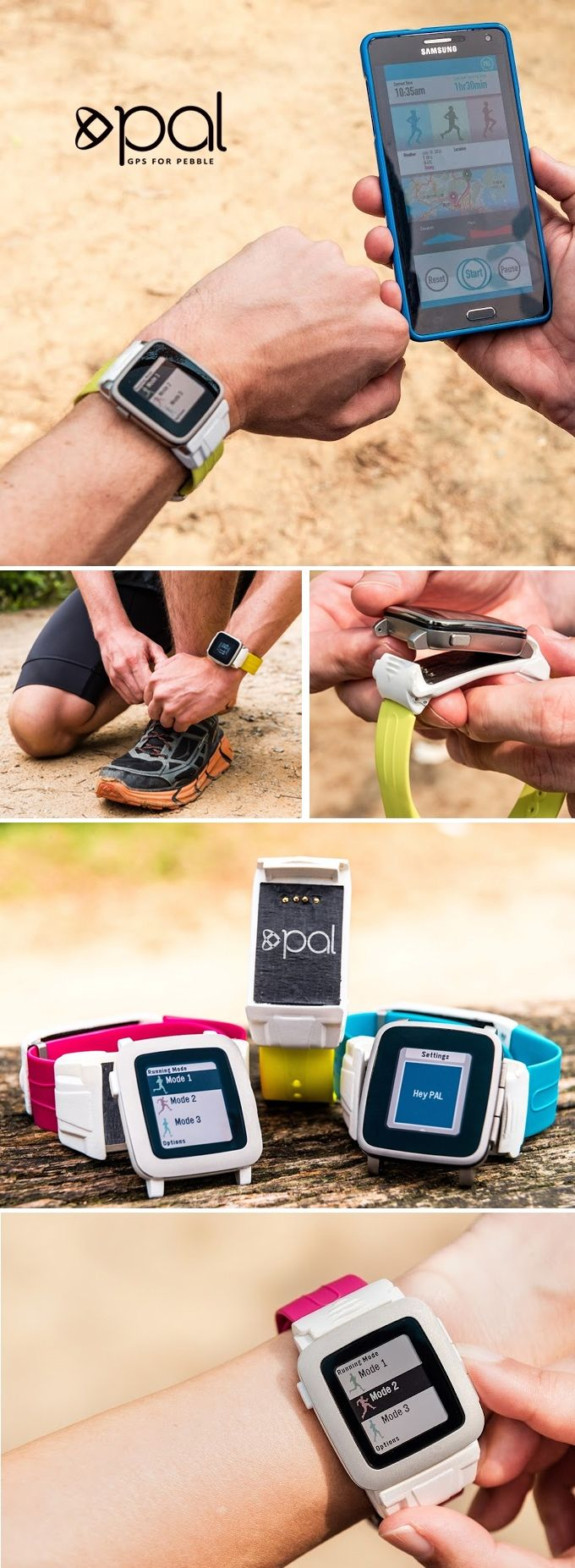 Pal is a strap for Pebble Time and Pebble Time Steel that features a high performance, independent GPS and Pebble battery extender.