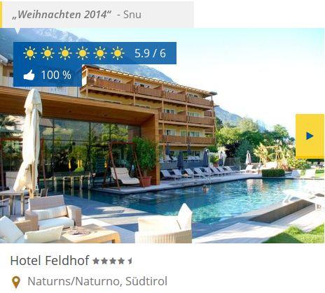 Das DolceVita Hotel Feldhof wird präsentiert