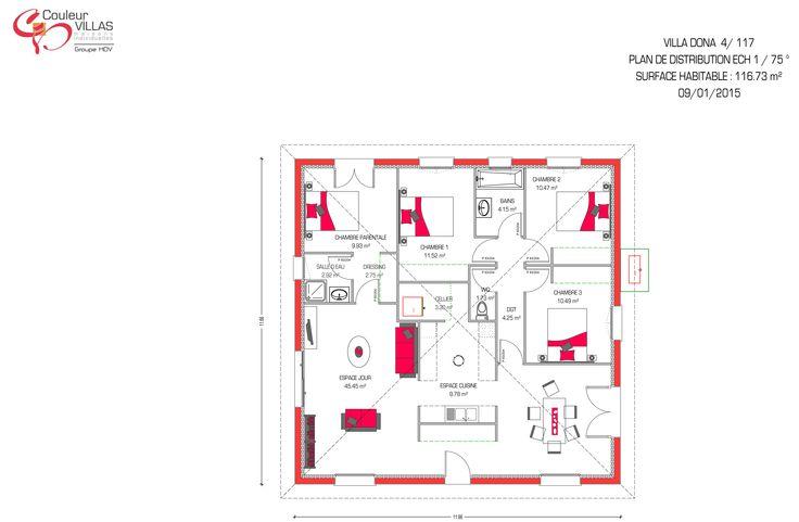 Les 25 meilleures id es de la cat gorie plan maison 90m2 for Construire maison 90 000 euros