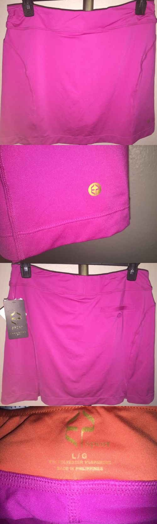 Skirts Skorts and Dresses 179003: Nwt Ep Sport Hot House Caliente Pink Golf Skort Sz Large -> BUY IT NOW ONLY: $34.99 on eBay!