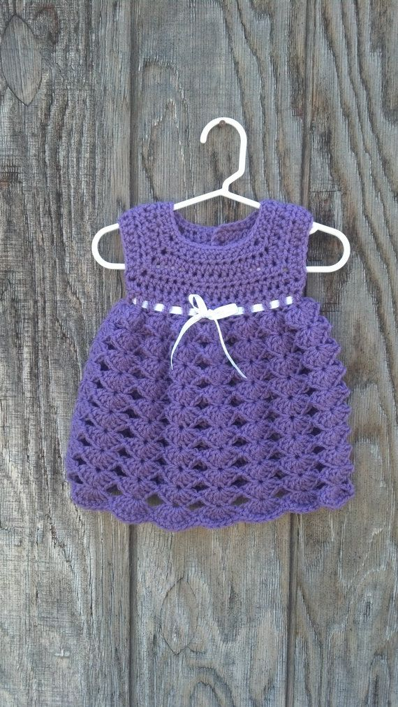 Crochet Baby Dress with Matching Diaper by sheepishhooker on Etsy, $35.00