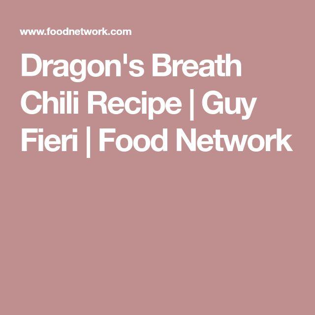 Dragon's Breath Chili Recipe | Guy Fieri | Food Network