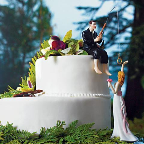 ケーキデザイン164 指輪はココ!花嫁フィッシング!?ケーキトッパー