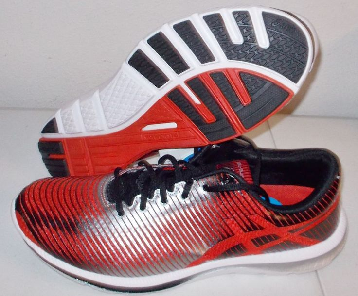 NEW ASICS GEL SUPER J33 Running MENS 11.5 Red Silver NWT #ASICS #Athletic