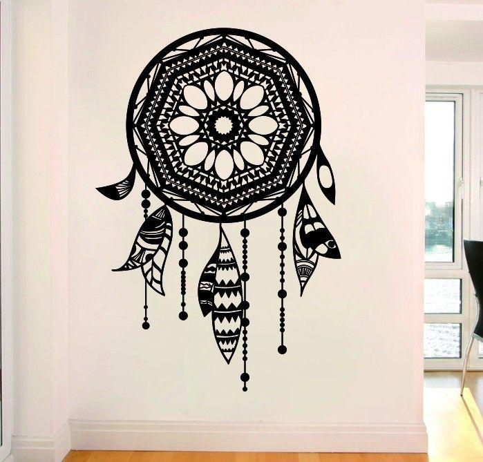 Ловец снов ловец снов домашняя этикета стены виниловые наклейки на стены наклейка искусства декора дома купить на AliExpress