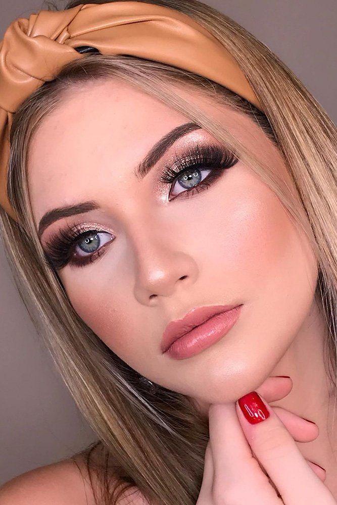 36 Ideas For Natural Bridal Makeup Wedding Forward Simple Wedding Makeup Makeup For Brown Eyes Wedding Makeup