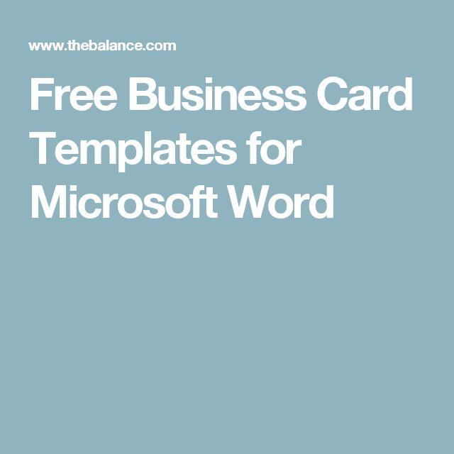 Pinterestu0027teki 25u0027den fazla en iyi Free business card templates fikri - free card templates for word