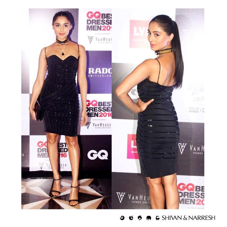 Pernia Qureshi a vision in black #LégerLeisure Cruise Dress & Cantilevered Choker at the @GQindia | #PerniaQuershi #ShivanAndNarresh #GQIndia #CllebStyle #Blackdress #EveningWear