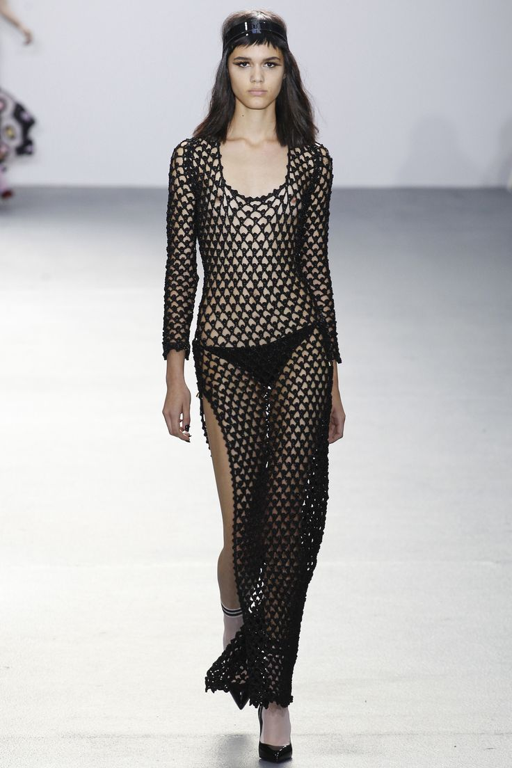 Remember, IRL when it comes to mesh crochet, foundation garments are your friend. Sibling Spring 2016 RTW