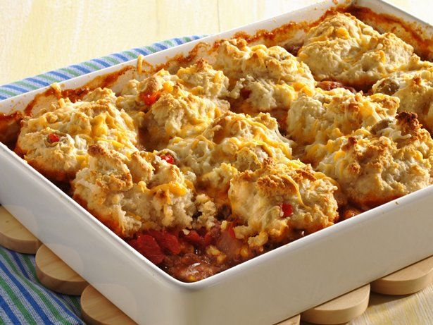 Biscuit Topped Beef and Corn Casserole Ground beef? Check. Cheese ...