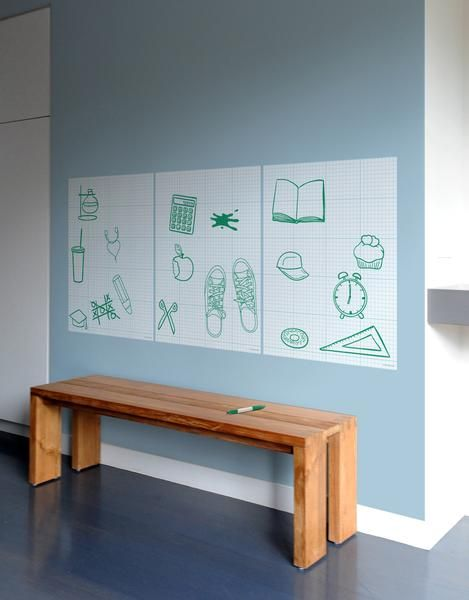 Jot a note, write a poem or sketch a masterpiece, Graph Paper dry erase by Blik Wall Decals is perfect for all your doodles, equations and your daydreams.