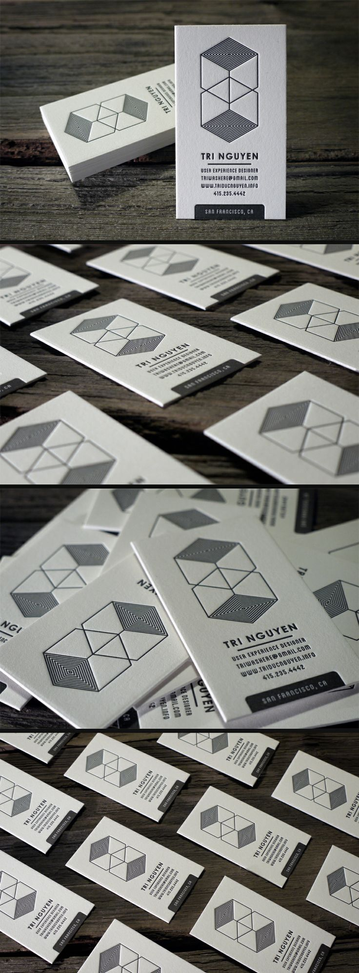 Letterpress Business Cards by PrintGrain (via Creattica)