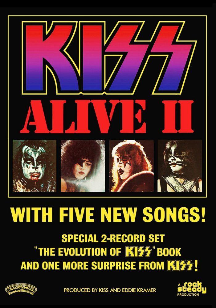 Kiss Band Alive Ii Promo Ad 20 X 30 Reproduction Poster Rock Music Memorabilia Kiss Album Covers Kiss Band Kiss Concert