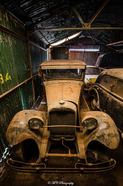 The lost is found...vintage cars in storage