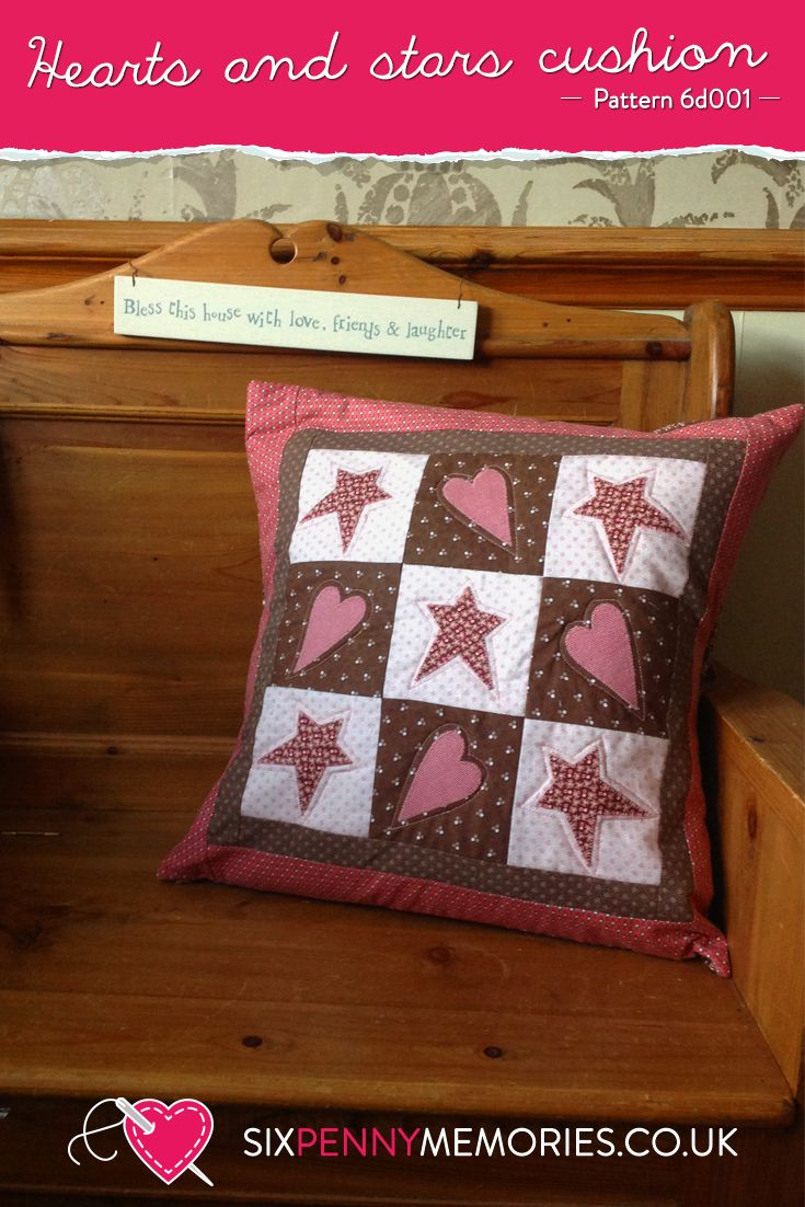 A cushion made of hearts and stars