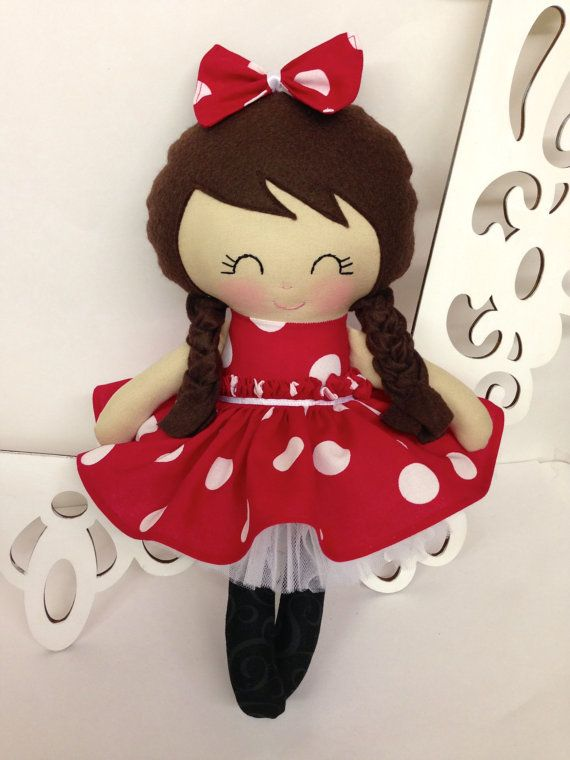 Minnie Mouse Doll, Rag Dolls, Handmade Minnie, Minnie Toy, Cloth Doll, Baby Girl Gift, Handmade baby doll $45.00