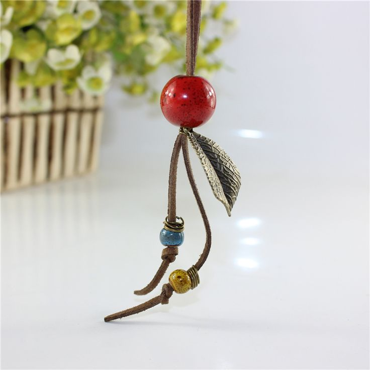 Miredo jewelry wholesale simple ceramic necklaces women's coin wood collar stone boho  necklace pendant free shipping 00152