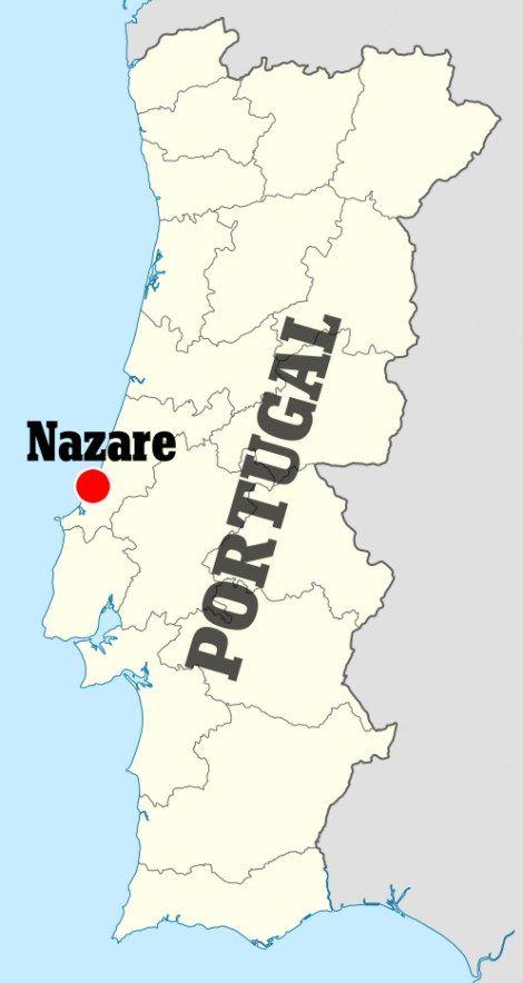 Best Nazare Ideas On Pinterest Ondas Gigantes Leiria - Portugal map nazare