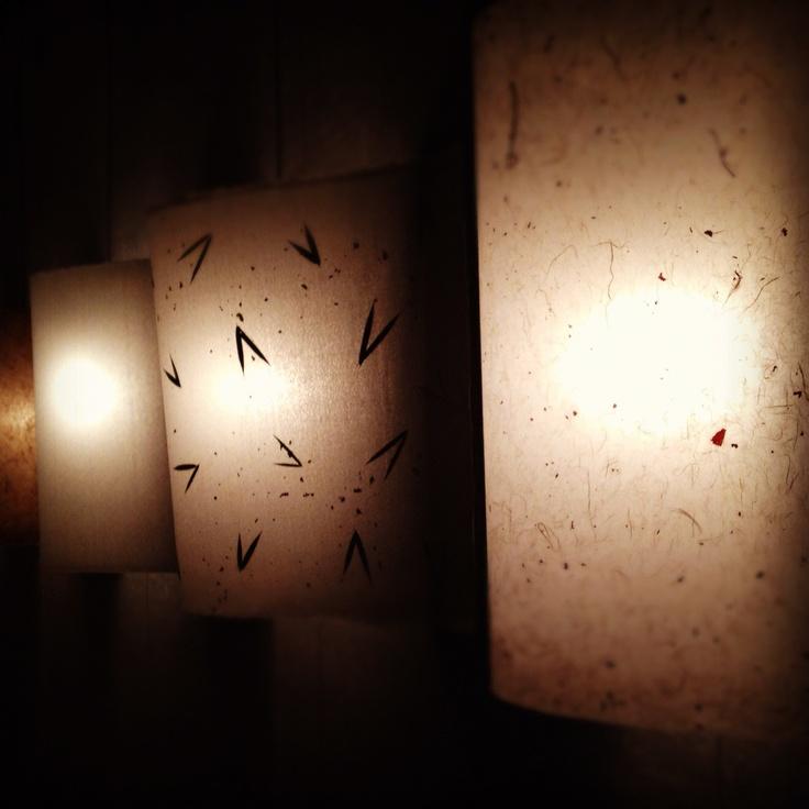 More Mino washi. Interiors light panels.