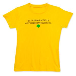 BETTERING MYSELF, BETTERING THE WORLD COOKIE T-SHIRT GIRL SIZES