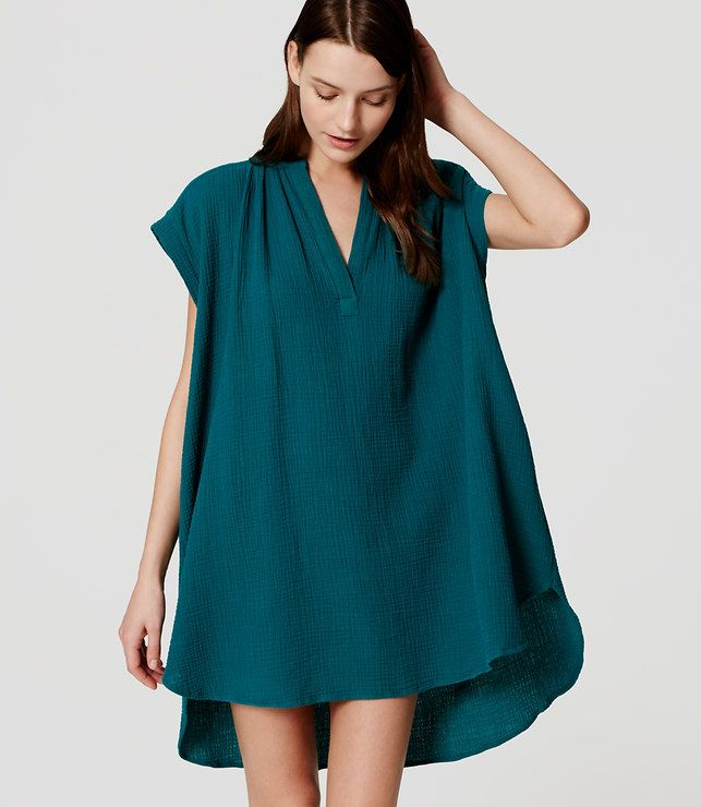 LOFT Beach Split Neck Swimsuit Coverup