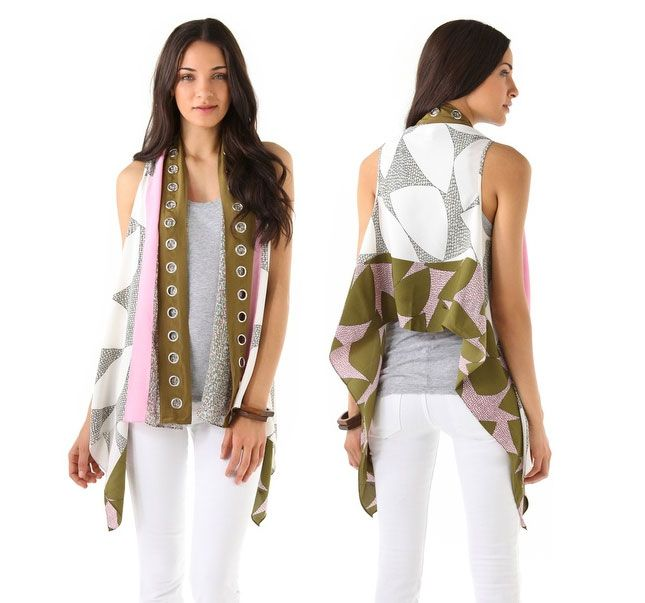 10 Ways to Turn a Scarf into a Vest via Brit + Co.