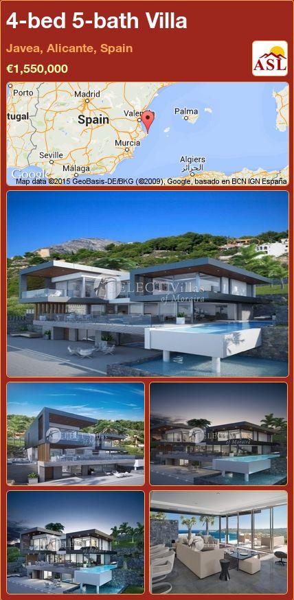 4-bed 5-bath Villa in Javea, Alicante, Spain ►€1,550,000 #PropertyForSaleInSpain