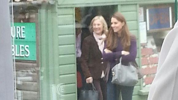Kate shopping in Holt, Norfolk April 13, 2013