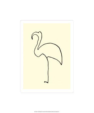 Le flamant rose Sérigraphie par Pablo Picasso sur AllPosters.fr